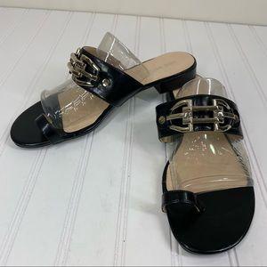 Nine West black toe sandals